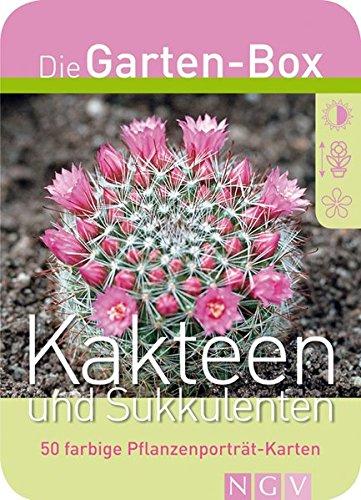 Kakteen und Sukkulenten. Die Garten-Box. 50 farbige Pflanzenporträt-Karten
