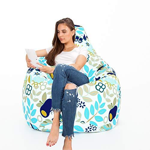 Aart Store Digital Cotton Canvas Printed XXXL Bean Bag with Bean