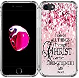 Case for iPhone SE/7/8 Bible Verse Protective - Topgraph [Exact Slim Fit Clear with Design Full Coverage] Bumper Compatible for iPhone 8/7/SE 2(SE 2020) [Christian Jesus Clear Soft TPU]