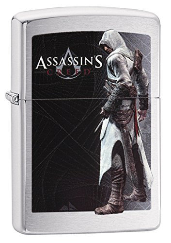 Zippo Assassins Creed Collection 2018-60003567 Sturmfeuerzeug, Chrom, Silber, 5.8 x 3.8 x 1.8 cm