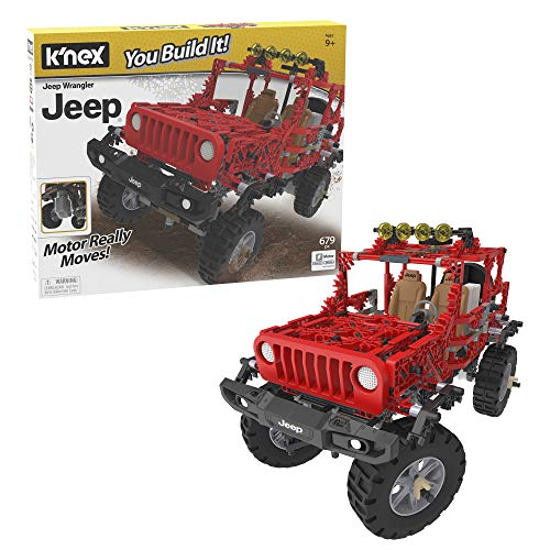K'NEX Jeep Wrangler Building Set - 682 Parts - Authentic Battery Powered Motorized Replica - STEM Toy - Ages 9 & Up, Multi
