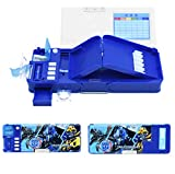 GDpowerseller Students Multifunction Stationery Pencil Case Korean Sky Blue Box (Dark Blue)