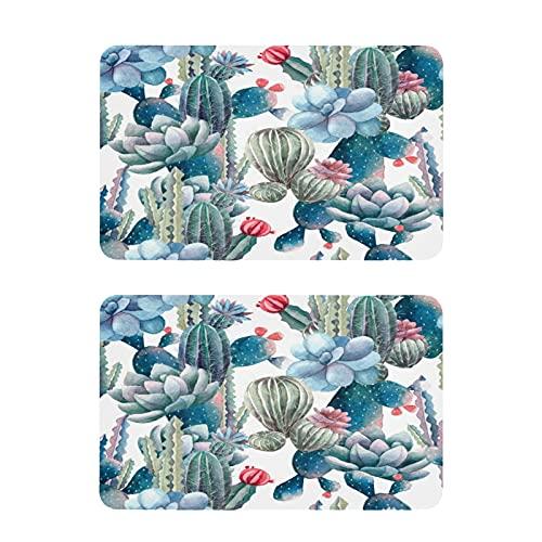 Hunihuni - Imán para nevera con forma de flor de cactus, diseño de flores decorativas para el hogar, cocina, armario, oficina, pizarra, juego de 2