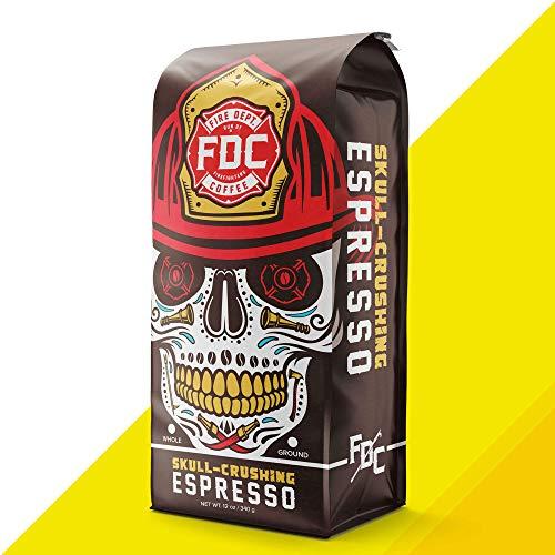 Skull Crushing Espresso High Caffeine Coffee, Espresso Drip Brewer Grind [12 Ounce]