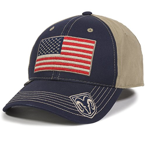 Outdoor Cap Unisex Erwachsene Amerikanische Flagge Truck Cap Navy/Khaki Erwachsene