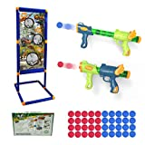 YOUPINCHAOWAN Shooting Game Toy for 5 6 7 8 9 10+Years Olds Boys and Girls, 2Foam Ball Popper Air Guns-40 Foam Balls-1 Shooting Target-Birthday Ideal Gifts-Compatible with Nerf Toy Guns