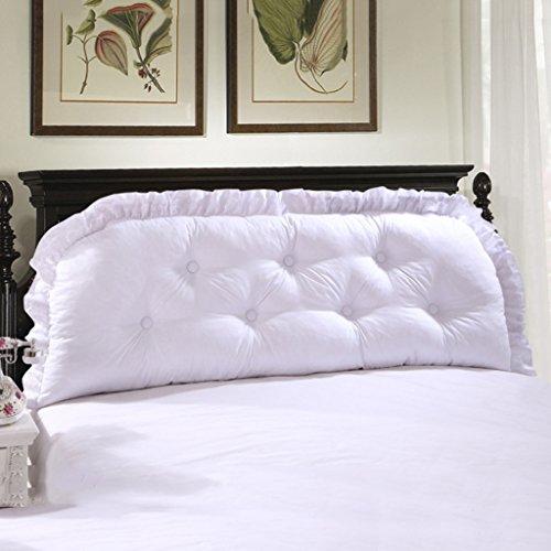 MMM- Oreiller Double lit de lit en coton doux Bed Bed Grand coussin lavable Sangle de taille siège ( Couleur : Blanc , taille : 145cm )