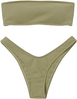85398d807249 Amazon.es: Verde - Bikinis / Ropa de baño: Ropa
