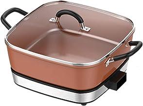 JTJxop Poêle Électrique, Hot Pot Électrique 6,5 L, Cuisinière Électrique Multifonction Professionnelle, avec Revêtement An...