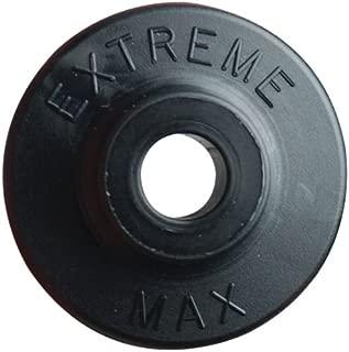 Extreme Max 5900.1185 Black Round Plastic Backer - 24 Piece