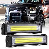 Barra de luz LED estroboscópica, Mesllin 6 'Bombillas de advertencia de emergencia para automóvil 40W / Set Blanco