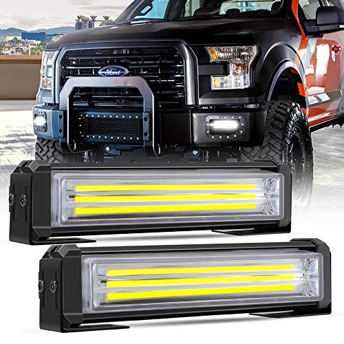 Barre lumineuse stroboscopique de LED, ampoules d'avertissement d'urgence de voiture de Mesllin 6 \