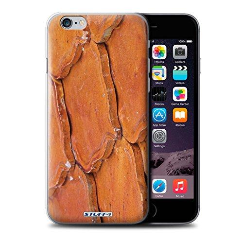 Stuff4 hoes/beschermhoes voor Apple iPhone 6S+/Plus/leisteen/tegels/oranje design/steen/Rock Collection