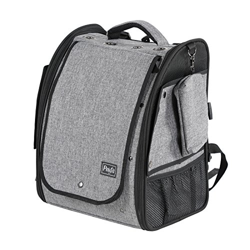 Petsfit Bird Carrier Backpack,Portable Bird Bag with Stainless Steel Bowl, Slide Tray for Easy Cleaning, 33cm x 25cm x 41cm