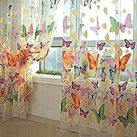 cortinas rosas con pompones