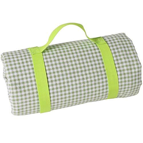 Les Jardins de la Comtesse picknickdeken, rechthoekig, XL, vichy-groen, katoen, achterkant waterdicht, 280 x 140 cm, ook voor tuintafel – 8 personen