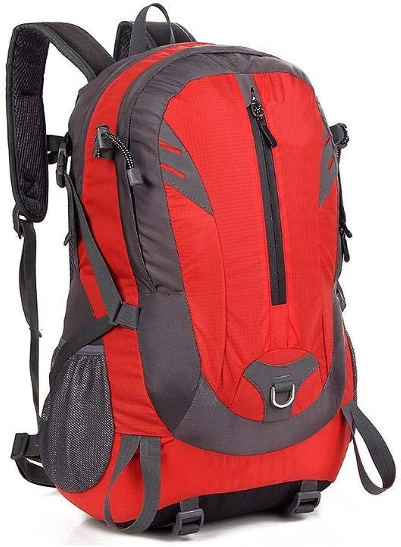 Outdoor Waterproof Men and Women Backpack Mountaineering Backpack Large Capacity Waterproof Leisure Outdoor Travel Hiking Travel Bag 49  31  21cm Multicolor Optional (color   RED)