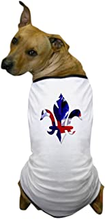 CafePress - Red, White & Blue Fleur de lis Dog T-Shirt - Dog T-Shirt, Pet Clothing, Funny Dog Costume