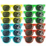 Bramble 12 Gafas de Sol de Plástico para Niños - Cumpleaños Fiesta Gafas