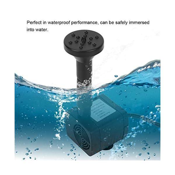 1.2W Impermeable ABS Miniatura sin Cepillo Acuario Fuente Estanque Bomba de Agua Sumergible Solar Ahorro de energía Bajo…