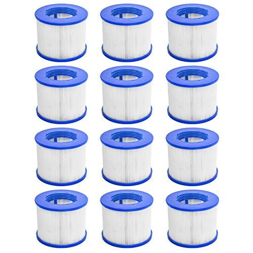 CosySpa Filtre pour Jacuzzi Spa Gonflable Cartouche Filtration Standard et Vissées pour Spa   Pack de 1, 6 et 12   Compatible avec Cosy Spa, Wave Spa, Clever Spa et de Plus (À vis, Pack de 12)