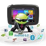 Motocicleta de navegación de navegación por satélite GPS for Android 6.0 Fodsports 5 Pulgadas IPX7 Impermeable del Coche de Bluetooth de Moto GPS Navigator + 1 gramo 16G Flash Mapa Gratuito