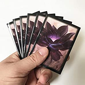 MTG スリーブ カードスリーブ デッキプロテクター ブラックロータス 60枚入りセット/ブラックロータス カードセット Black Lotus Card Sleeves 【サイズ】縦91mm×横66mm