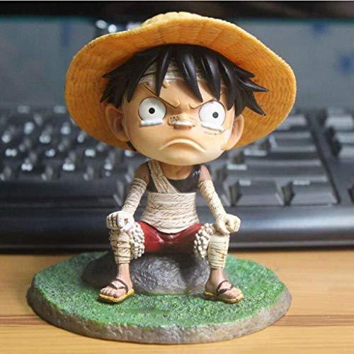LBBD Weinen Kid Luffy Strohhut Königs Haki Mugiwara Boy Manga Anime One Piece Monkey D. Luffy Gum-Gum Frucht PVC-Tätigkeits-Abbildung Modell-Spielzeug-Geschenk for Jugendliche