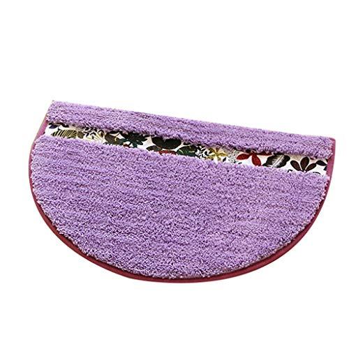 Vloerkleed en tapijt, antislip, voetmat, halfrond, voor slaapkamer, entree, absorberend, antislip, deurmat, zacht en comfortabel