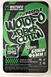 Wotofo(ウォトフォ) Agleted Organic Cotton 6mm for Profile RDA プロファイル プロフィール 用 コットン 10pc