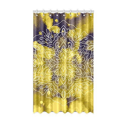 N\A Rideaux de fenêtre pour Enfants pour garçons Scarlet Yellow Streaks Art Kids Rideaux de Chambre 50 X 84 Pouces Une pièce pour Patio Porte coulissante en Verre/Chambre à Coucher