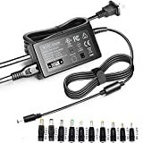 F1TP 19V 3.42A Power Supply, 65W Universal Laptop Charger for HP Acer Samsung Toshiba Fujitsu Lenovo Asus Gateway IBM Sony LG TV Monitors and Notebooks Chromebook, UL Listed 19 Volt AC/DC Adapter