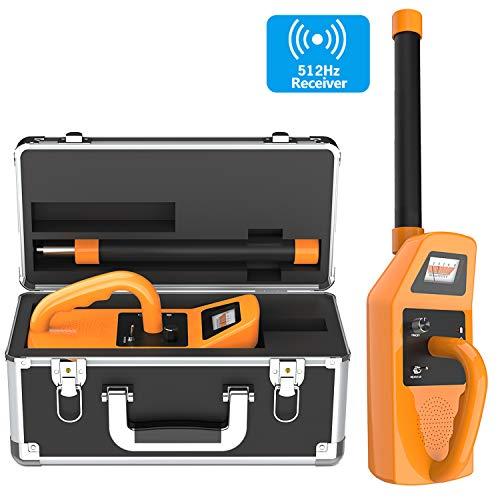 Receptor localizador de tuberías de 512Hz, El kit de herramientas de transmisión de 512Hz para plomería y localización séptica soporta todos los dispositivos que utilizan el transmisor de 512 Hertz