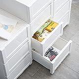 Gabinete de almacenamiento para cajones, gabinete alto de baño, armario de almacenamiento para dormitorio, gabinete de almacenamiento móvil blanco (color: blanco, tamaño: 34 x 52 x 74 cm)