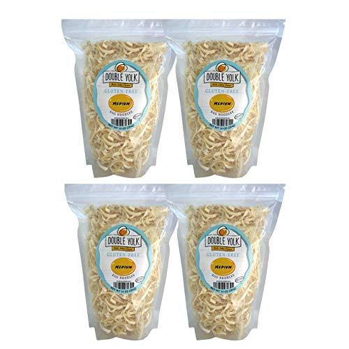 Gluten Free Noodles Amish Wedding Foods Double Yolk Medium Egg Noodle 10 oz Bag (Pack of 4 - 10 oz Bags)