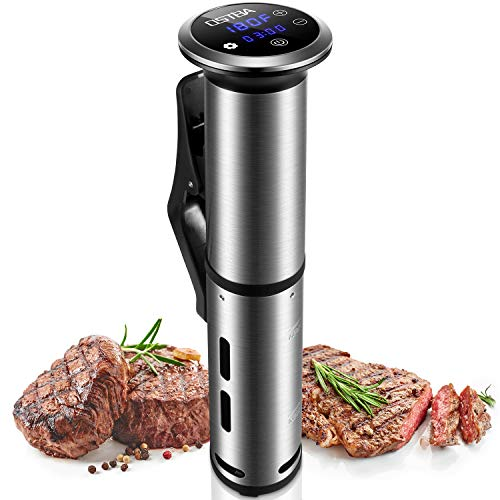 OSTBA Sous Vide Cooker Thermal Immersion Circulator with Accurate Temperature and Timer Control, 1000W Stainless Steel Sous Vide Machine, LED Digital Display, Recipes Included