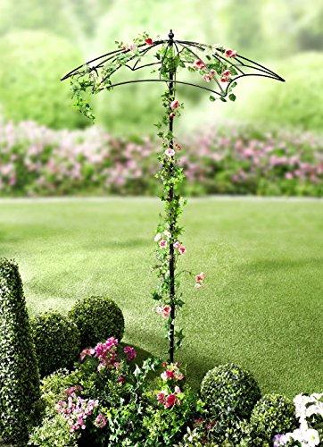 ABC Home Garden Schirm Rankhilfe | Rankschirm | 190 cm H, schwarz