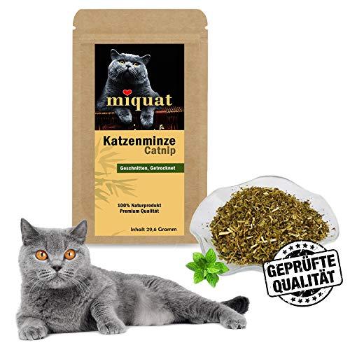 Miquat XL Pack 30 Gramm Beutel echte Katzenminze Catnip | Naturprodukt geschnitten und getrocknet | Katzenspielzeug