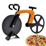 McNory Cortador de Pizza,Cortador de repostería Creativo en Forma de Bicicleta,Rueda de Corte de Acero Inoxidable con Revestimiento Antiadherente con Soporte,Herramientas de Cocina de Acero Inoxidable