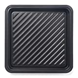 Maconee Microwave Square Non-Stick Grill Tray-Pana Crunch Pan for Cooking Meat, Fish, Pizzas or Toasts, Micro Crispy Cookware Dishwasher Safe for 31 Litre or Bigger Microwave Oven