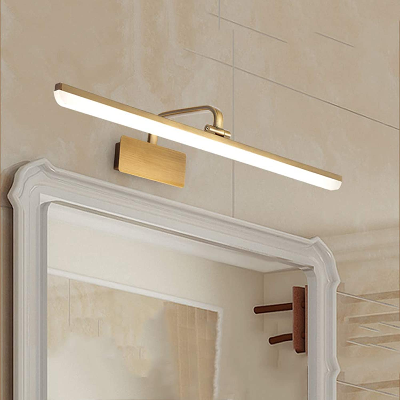 SXFYWYM LED Spiegellicht drehende Acrylflattenlampe Moderne Wandlampe für die Verkleidung der Tischbeleuchtung,Gold,43cm