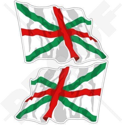 BULGARISCHE MARINE JACK Wehende Fahne Bulgarien 75mm Auto & Motorrad Aufkleber, x2 Vinyl Stickers