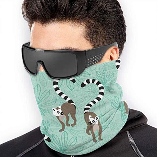 LONGYUU Katta Lemur Repeating Pattern Neck Gaiter Kopfbedeckung Gesichtsmaske Für Sun Running Kopfbedeckung Herren Multifunktion Für Winter Kaltes Wetter Warmhalten Für Herren Damen