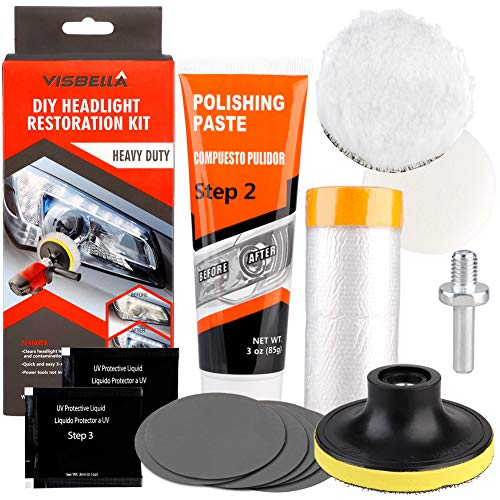 Pannow Professionele Koplamp Restauratie Kit DIY Koplamp Restauratie Kit voor Auto Motorfiets 1m Headlight Restoration Kit B