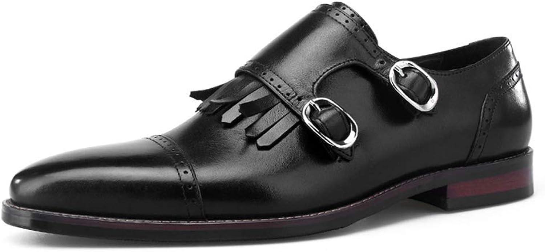 Högklassig herrklädsel Dubbel Monk Strap s läderskor Business Style, Pointed Loafer Comfortable Classic Forest Foreman skor Formal bröllop skor s Casual