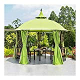 YYDD Villa Garden Furniture, Outdoor Gazebo Lawn Tent, 12x12 FT Gazebos for Patios with Netting and Curtains, Garden Gazebo, Patio Pavilion, Outdoor Party Pergola, Family Gathering