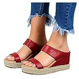 BIBOKAOKE Sandali da donna con zeppa, sandali con zeppa, sandali estivi, sandali con tacco alto, sandali da donna