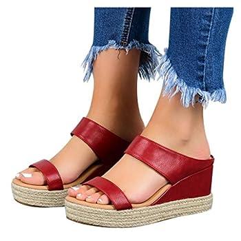 Women Sandals Women Summer Flip Flop Women Rhinestone Owl Sweet Sandals Clip Toe Sandals Beach Shoes 2020 Red