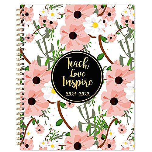 2021-2022 Teacher Planner - Teacher Planner 2021-2022, July 2021 - June 2022, 8'' x 10'', Lesson Plan Book, Weekly & Monthly Lesson Planner with Quotes, Monthly Calendars, Weekly Activity Schedule