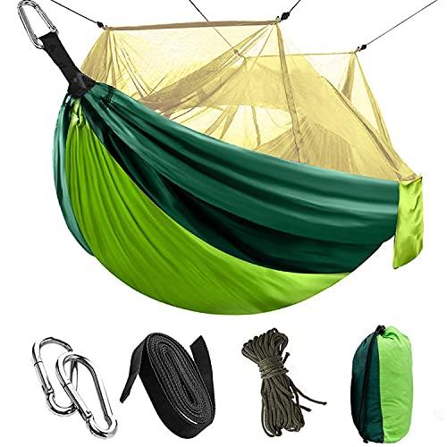 Auflosung Camping Hamaca con Mosquitero, Viaje y Camping Hamaca, Hamacas Camping Colgantes Portátil, para Camping, Senderismo, Viajes al Aire Libre (260 * 140 cm)